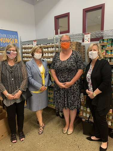 We wrapped up our on-line, no contact Stark County Hunger Task Force campaign! With generous donations from you, our staff, and matching funds from the HK partner group, we were able to hand a check of over $1,000 to Executive Director Maureen Kampman.