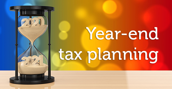 year-end tax planning hourglass